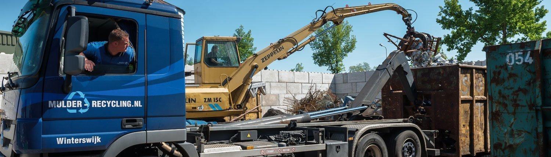 mulder recycling vrachtwagen