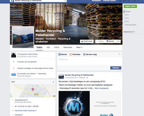 Mulder Recycling Facebook
